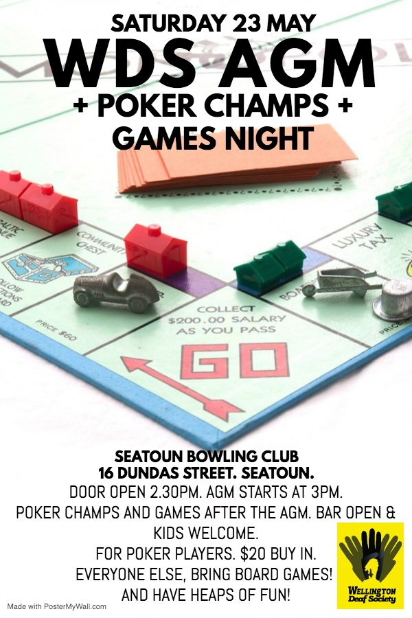 WDS AGM Poker and Games Night May 2019